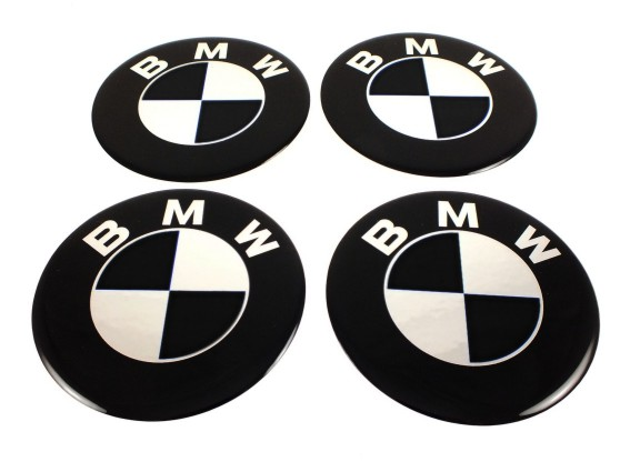 bmw 4 st ck silikon 65mm schwarz aufkleber emblem. Black Bedroom Furniture Sets. Home Design Ideas
